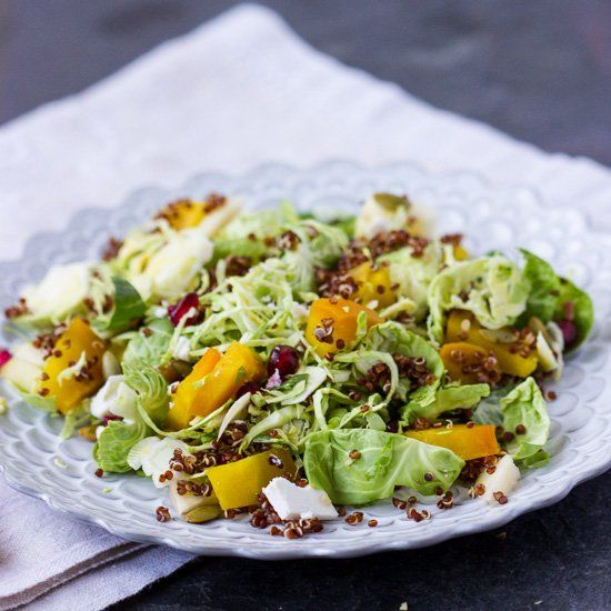... Salad with brussels sprouts, roasted beets, apples, pumpkin and