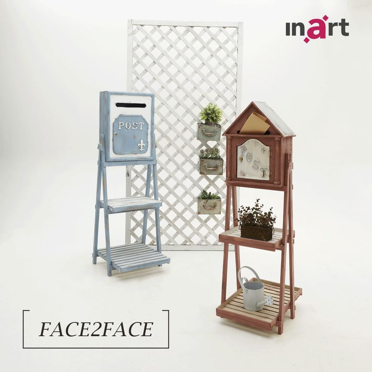 Two beautiful mailboxes, one choice.  Which one is your favourite?  The light blue or the red?  #inart #HomeDecor #Decoration #HomeStyle #FurnitureDesign #Furniture #Mailbox