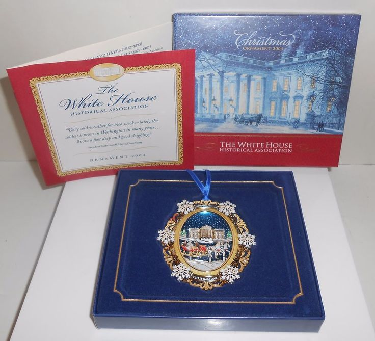 White House Christmas Ornament 2004 Historical Association With Box & Booklet