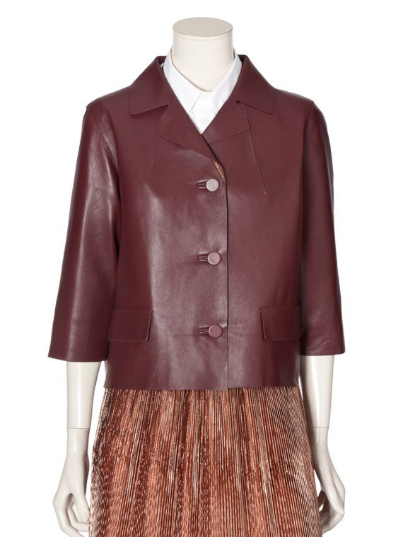Leather jacket Women Marni - Shop the official Virtual Store