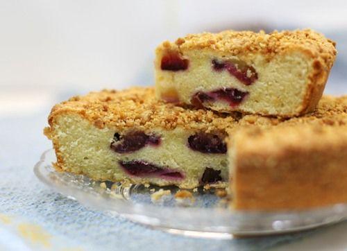 Сливовый пирог с миндальной корочкой