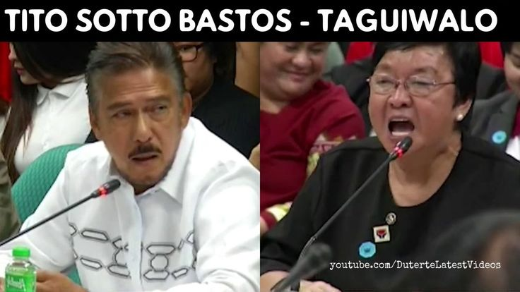 """NA-ANO LANG - TITO SOTTO to JUDY TAGUIWALO 'Senator,we respect all families including solo parents' - WATCH VIDEO HERE -> http://dutertenewstoday.com/na-ano-lang-tito-sotto-to-judy-taguiwalo-senatorwe-respect-all-families-including-solo-parents/   Single mothers are """"na-ano lang"""" (just got knocked up). Senate Majority Leader Vicente Sotto III made this remark as he grilled Social Welfare Secretary Judy Taguiwalo, a solo parent, during her confirmation hearing bef"""