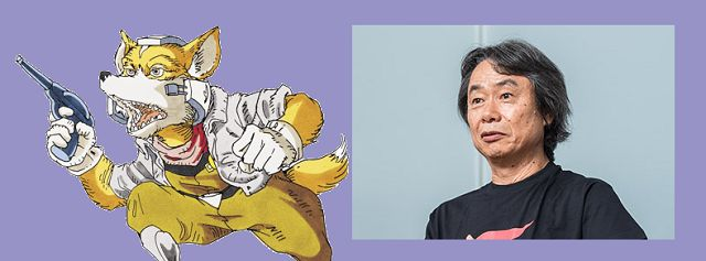 StarFox characters were initially going to be human animal designs based off real-life dev team members   Coming from the SNES Classic Edition Developer Interview: Vol 1 featuring Shigeru Miyamoto Takaya Imamura and Tsuyoshi Watanabe.  Imamura: I originally considered making the characters human but Miyamoto overturned that and suggested making them animals. We made the main character a fox because of its association with the Fushimi Inari Taisha shrine near the head office and then for the…