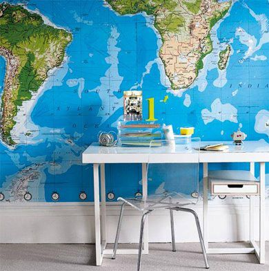 I like the idea of using a map as wallpaper.