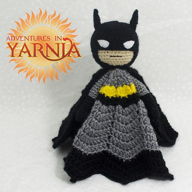 Knitting Pattern For Batman Blanket : Batman Lovey pattern by Adventures in Yarnia Crime ...