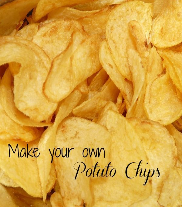 This recipe for home made potato chips is easy to do and they taste delicious. The secret is using a mandolin slicer to slice them.