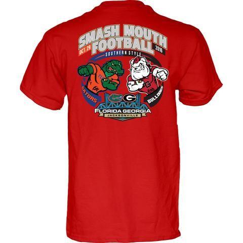 NCAA Georgia Bulldogs vs Florida Gators Smash Mouth Football Game Day Red T Shirt