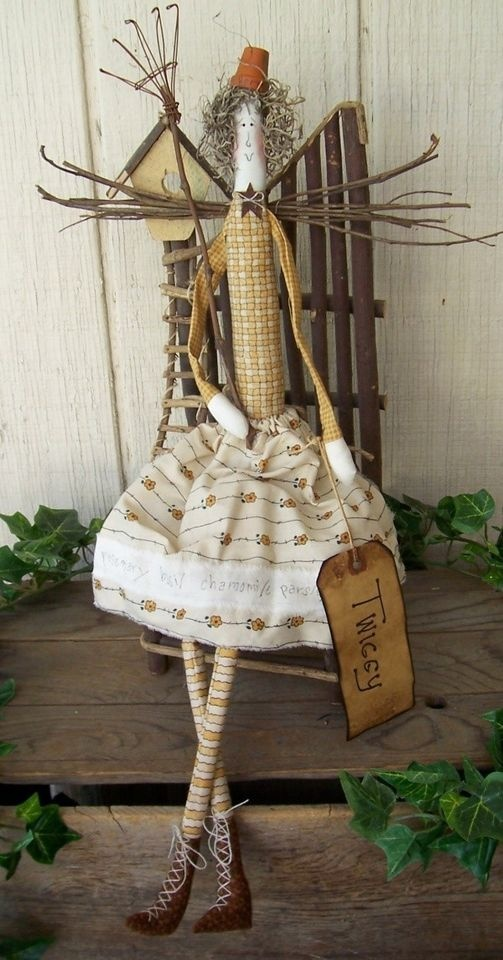 Twiggy, a primitive OOAK doll. Love this. No longer available on website.
