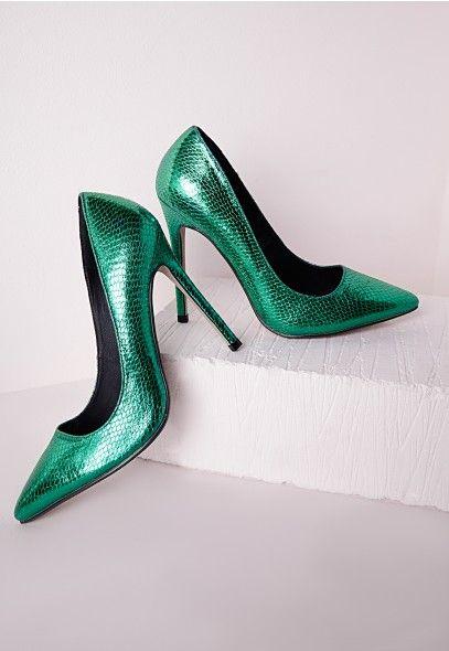 Escarpins verts à talon aiguille - Chaussures - Talons hauts - Missguided