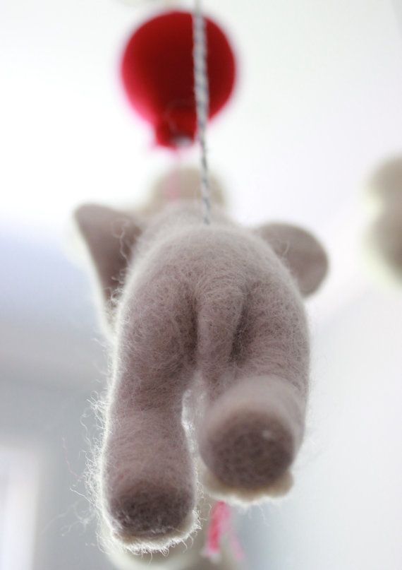 Oben oben und auswärts Filz MerleyBird Nadel Elefanten und