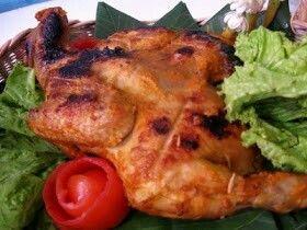 Ayam bakar bumbu rujak, khas Jawa Timur
