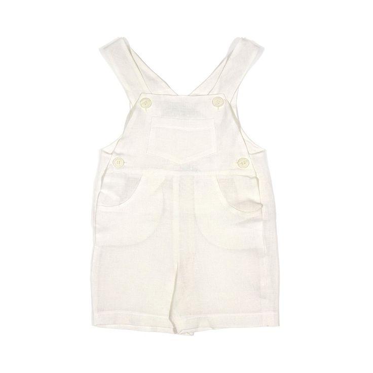 LE GUIGNOL   Linen baby dungarees   TheMiniBag