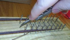 How to make a Flemish bowstring............... (This is the sting I'm using)