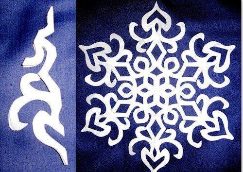 Los copos de nieve de papel de bricolaje Maravillosas con El Patrón | WonderfulDIY.com