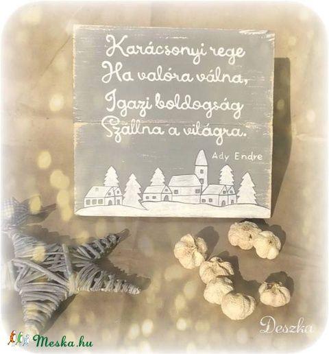 Karácsonyi rege, ha valóra válna- koptatott karácsonyi hangulat (Deszka) - Meska.hu