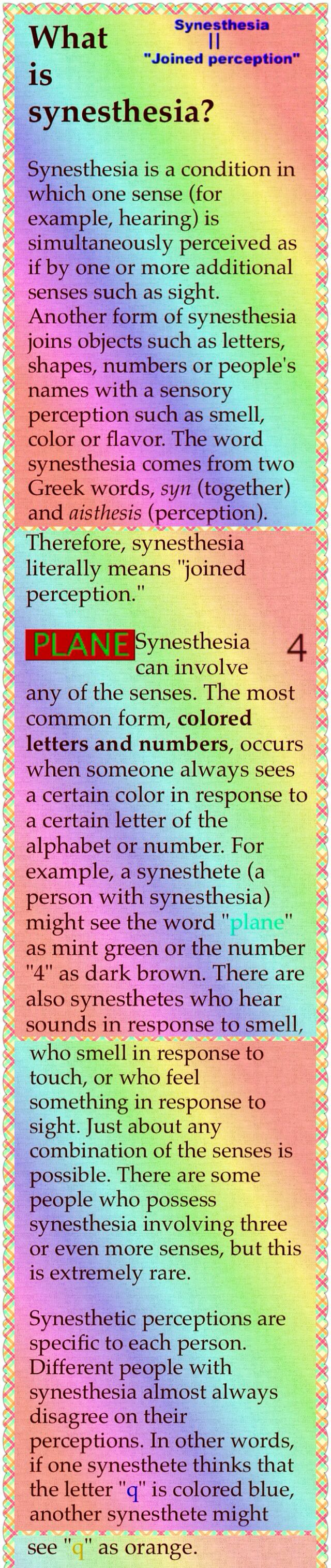 65 best Synesthesia images on Pinterest | Psychology, Colours and ...