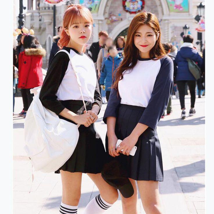 2017 Nova Primavera bola de cintura alta saias plissadas Harajuku Coreano meninas sólidos a line saia Plus Size Formal uniforme escolar marinheiro em Saias de Das mulheres Roupas & Acessórios no AliExpress.com   Alibaba Group