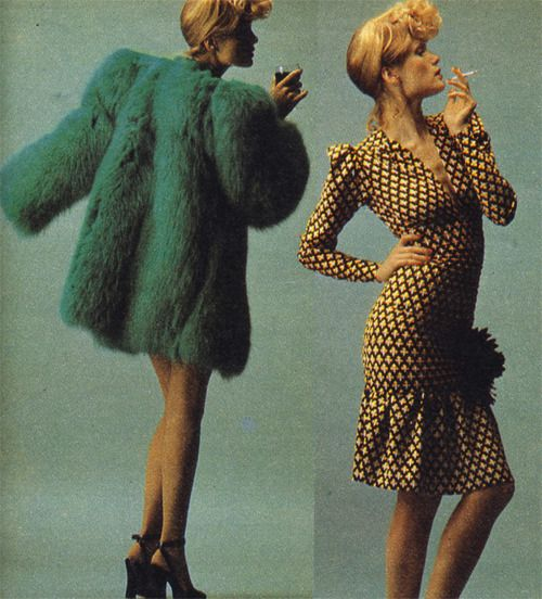 Yves Saint Laurent, ca 1970-71.