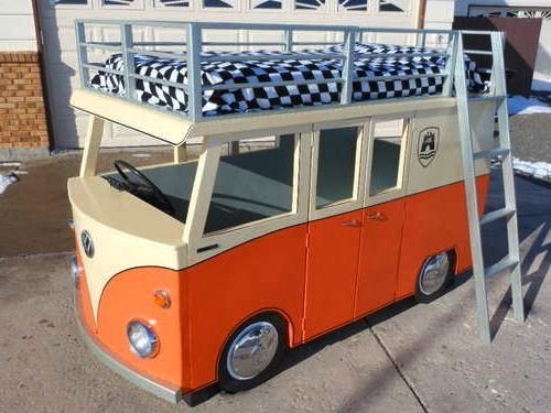 Weekend DIY Project: VW Micro-Bus Bunk Bed and Playhouse | HomeJelly