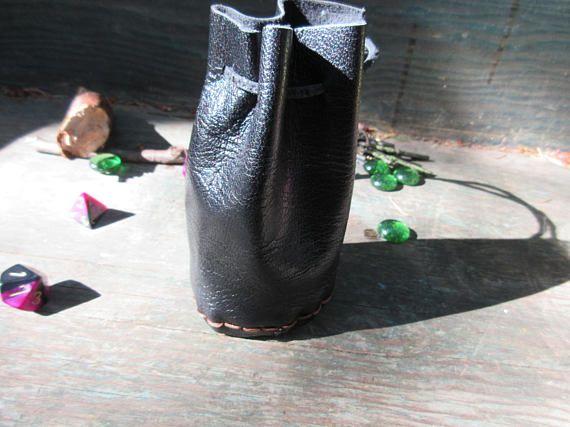 Black medieval pixie bag coin purse
