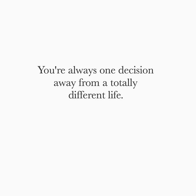 True that. Stay positive, choose wisely ✊