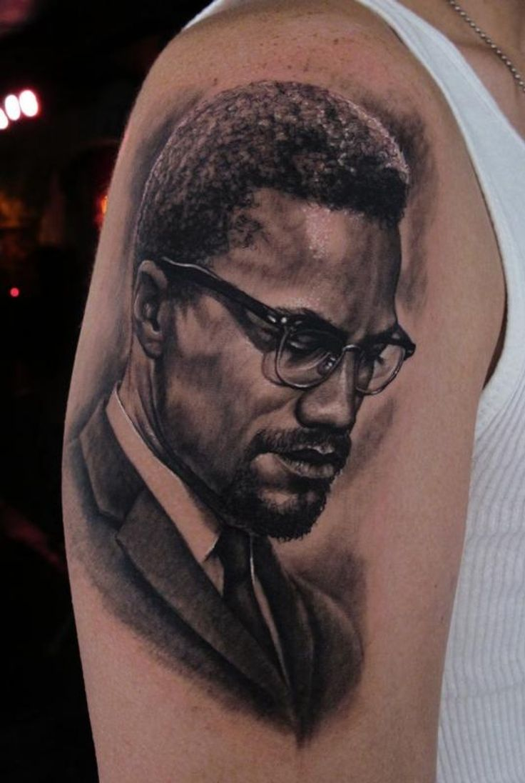 Malcolm x tattoo enngraved tattoos pinterest x for Nas malcolm x tattoo