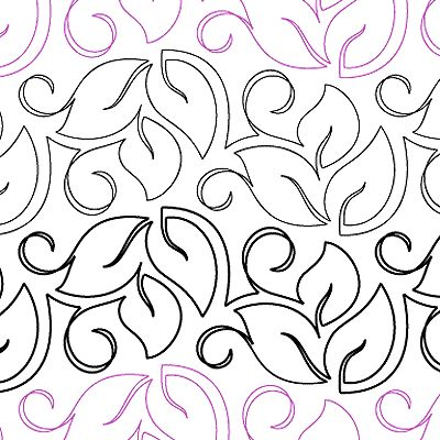 """Shady Trail - Paper - 6"""" - Quilts Complete - Continuous Line Quilting Patterns"""