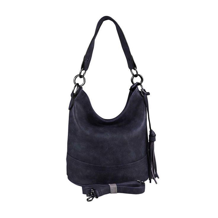 DAMEN TASCHE HOBO-BAG Metallic Shopper Umhängetasche Handtasche Schultertasche Henkeltasche Beuteltasche CrossOver Tote-Bag Dunkelblau – Italyshop24.com