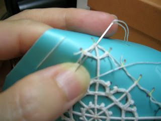Tutorial: merletto ad ago geometrico (Reticella) parte quinta