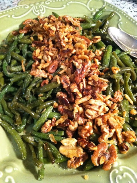 Sautéed Green Beans with Garlic and Walnuts ~ So simple and So good!