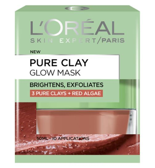 L'Oreal Paris Pure Clay Glow Mask 50ml FYI really heavily perfumed