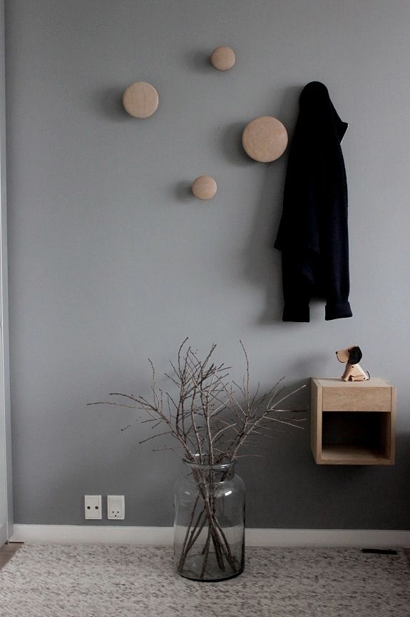 Muuto The Dots coat hooks in Hallway