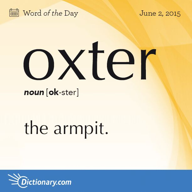 Dictionary.com's Word of the Day - oxter - Scot. and North England.