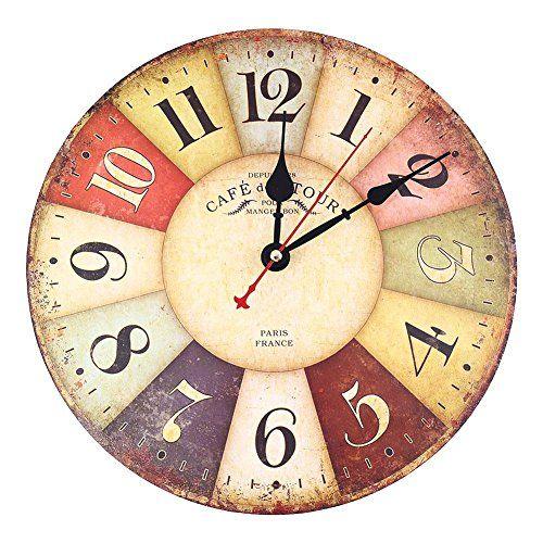25 best ideas about relojes de madera en pinterest - Reloj pared vintage ...