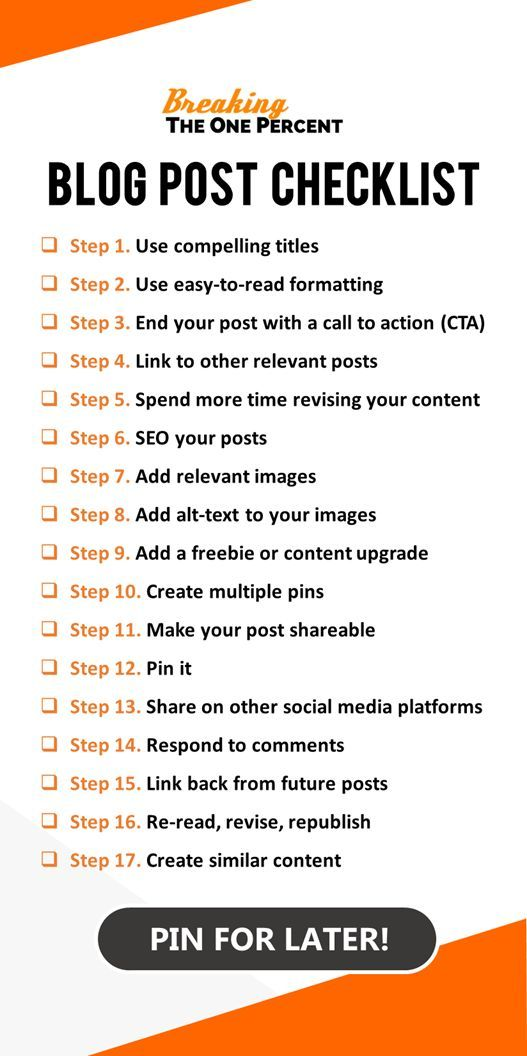 17 steps to the perfect blog post blog post checklist printable want the perfect blog post checklist so you can pump out amazing content daily grab malvernweather Images