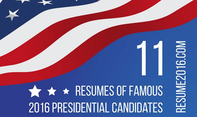 What would resumes of Presidential Election 2016 Candidates look like #infographic