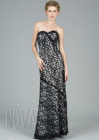 Dark Navy Blue Chiffon One Shoulder Flower A-line Long Prom