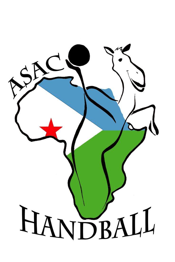 Logo association de handball à Djibouti.