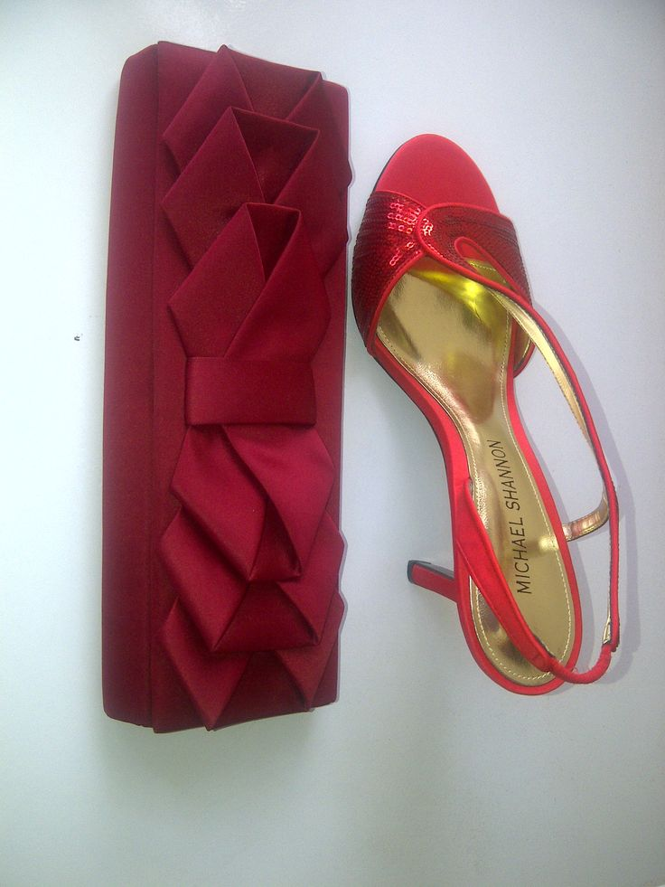 Occasion Online Boutique Shoes Shannon Michael in Red and a Red Clutch