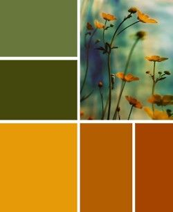 Warm Color Palette--I like the blue in this, even though it isn't shown in the color chips.