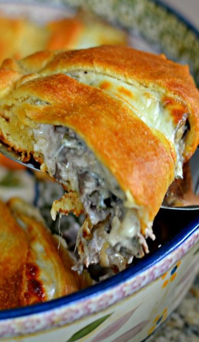 Philly Cheesesteak Crescent Ring Recipe ~ easy and delish