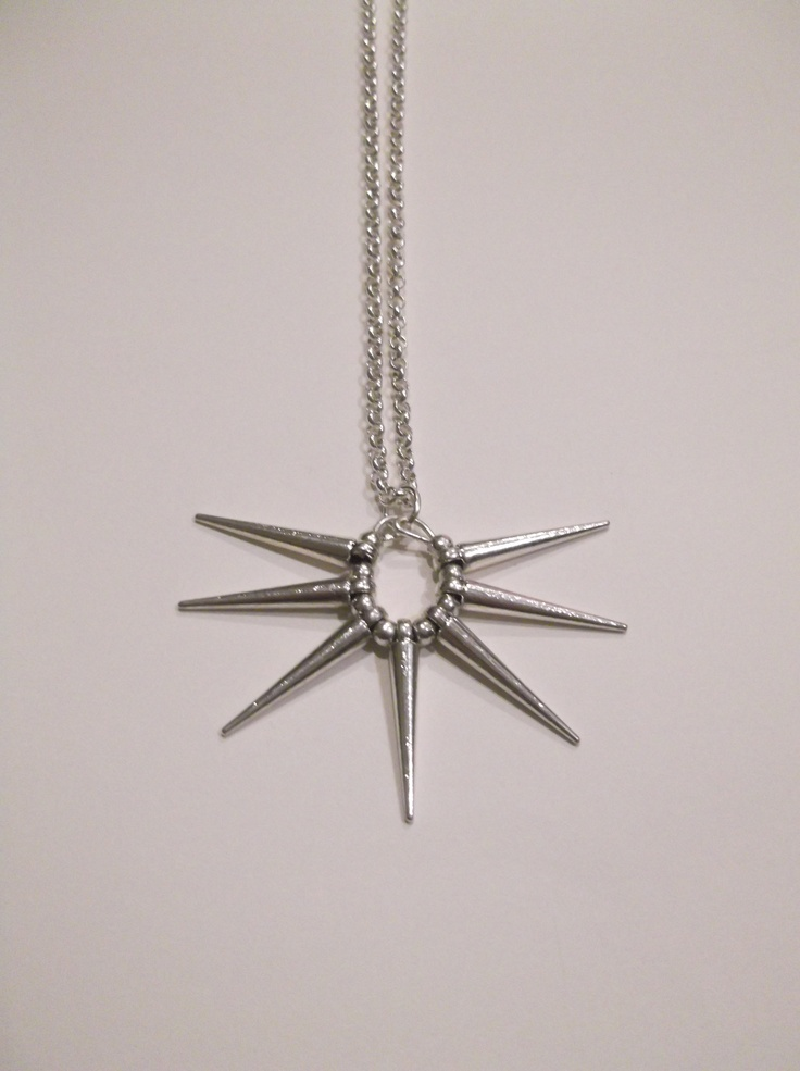 Metal Silver Small Round Spike Necklace  Length-49cm  Price- $20  Contact- kendal.halloran@gmail.com