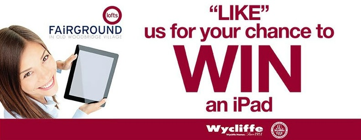 Contest: Like our Facebook page for your chance to win a #free #iPad!  https://www.facebook.com/fairgroundlofts/app_79458893817