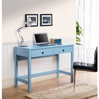 Othello writing desk in Blue Paint Finish | Overstock.com Shopping - The Best Deals on Laptop Desks