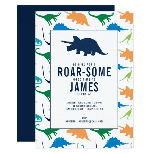 415 best dinosaur birthday party invitations images on pinterest preppy boy dinosaur birthday party invitation stopboris Images