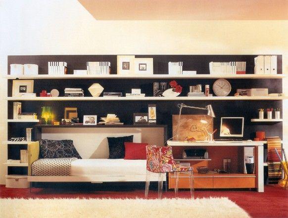All in one! #bedroomTeen Bedrooms, Decor Ideas, Teenagers Bedrooms, Small Room, Bedrooms Design, Small Spaces Design, Beds Design, Bedrooms Ideas, Teen Room