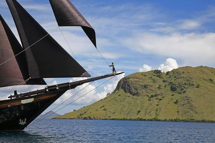 Pioneering adventures in the Indonesian archipelago onboard a luxury phinisi style superyacht.