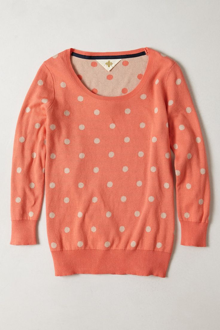 Love dots/spits....but not in this coral colour..maybe yellow or purple...or teal.