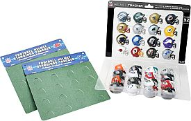 Take your football fanaticism to the next level with the Riddell® NFL 32-Piece Micro Helmet Tracker Set. This set comes with 32 miniature replica helmets for each of the 32 NFL teams, showing off your pride. The two tracking sheets that come with the set provide an easy way to display the league's divisional and playoff races up to the Super Bowl. Show off your NFL knowledge to your family or coworkers with this helmet tracker set.