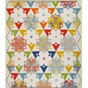 Triple Crown Quilt By American Jane Patterns , Jelly Roll | Quilterswarehouse: American Jane, Quilts Patterns, Jane Patterns, Triple Crowns, Rolls Quilts, Hexagons Quilts, Jelly Rolls, Crowns Quilts, Modern Quilts